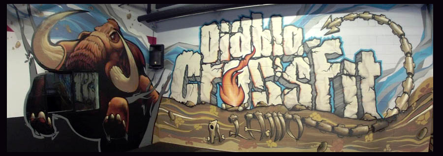 Diablo Crossfit Alamo Mural Located At 190 Plaza CA